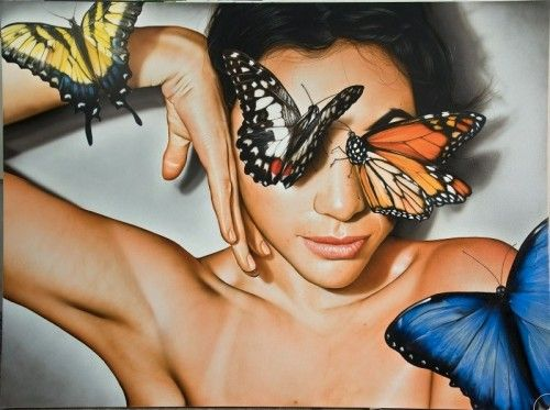 Victor Rodriguez.  He paints absolutely amazing realistic pieces of work.