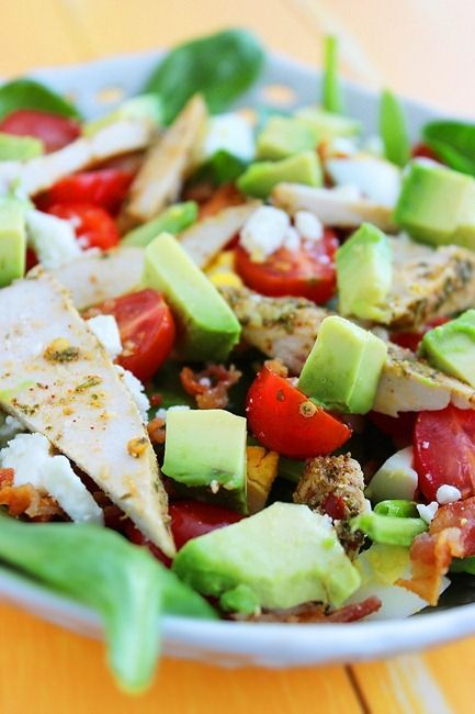 ... Salad, Cooking Chicken, Spinach Cobb, Grape Tomatoes, California Cobb