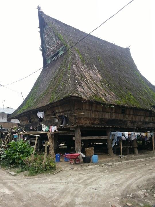 Batak karo traditional house, north Sumatera