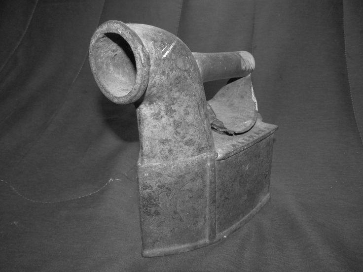 Plancha de carbón antigua