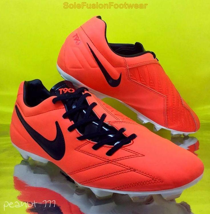 Nike Mens T90 Shoot IV Football Boots Orange/Black sz 8 Soccer Cleats US 9 42.5  | eBay