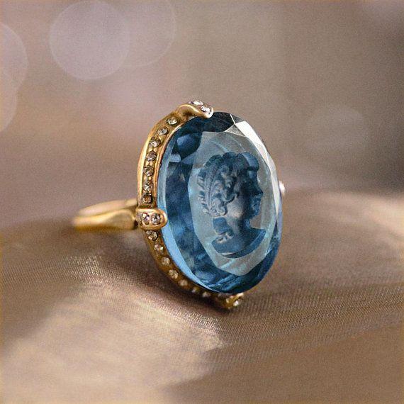 Moonstone Diamond Halo Engagement Promesse Bague vintage taille émeraude argent 925