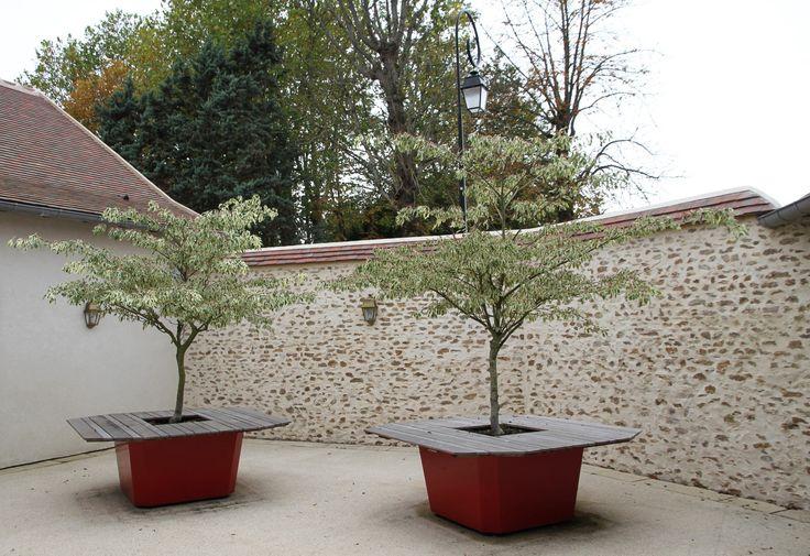 Tavolo da giardino / fioriera Tavolo da giardino by IMAGE'IN by ATELIER SO GREEN design Olivier Berg