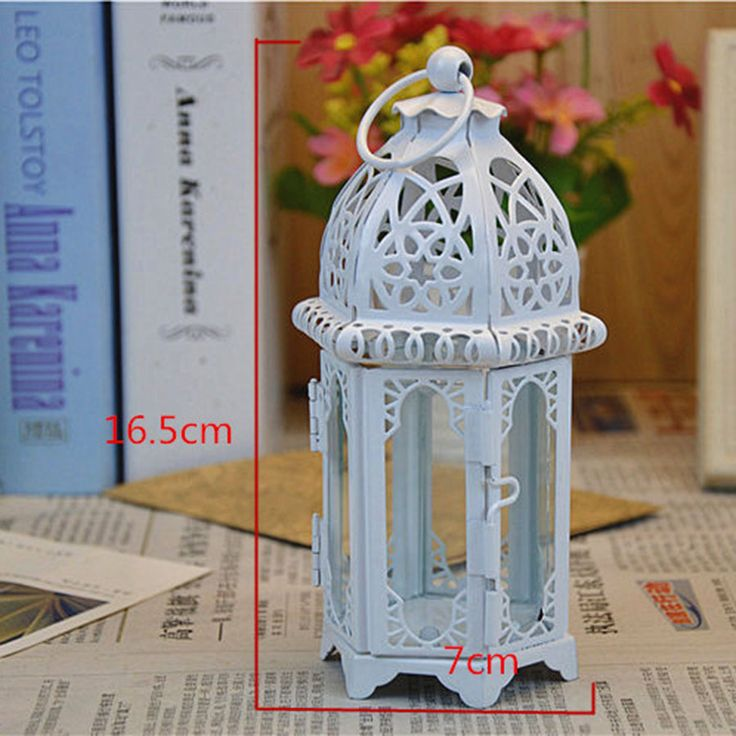Glass White Hurricane Lantern Candle Holders Moroccan Lantern The Central Focus Wedding Candlestick White Candlestick QQX100