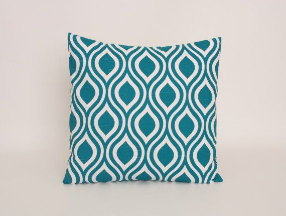 Blue Throw Pillow Cover Teal Blue Accent door DimensionsHomeDecor, $16.00