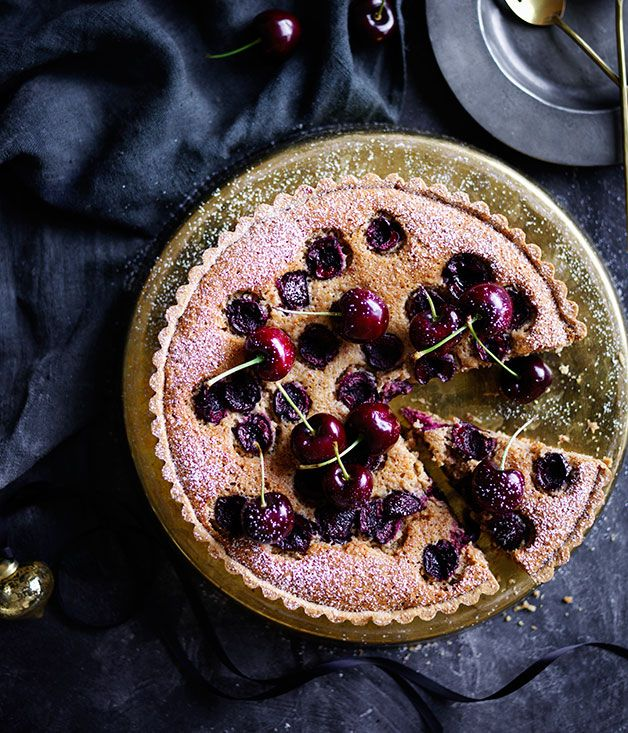 Emma Knowles recipe for cherry, almond and burnt-butter tart.