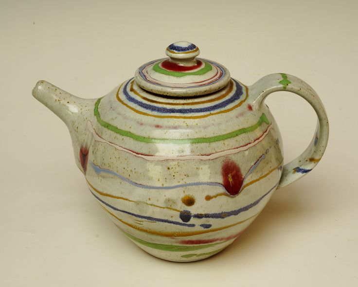 Teapot - banded decoration.