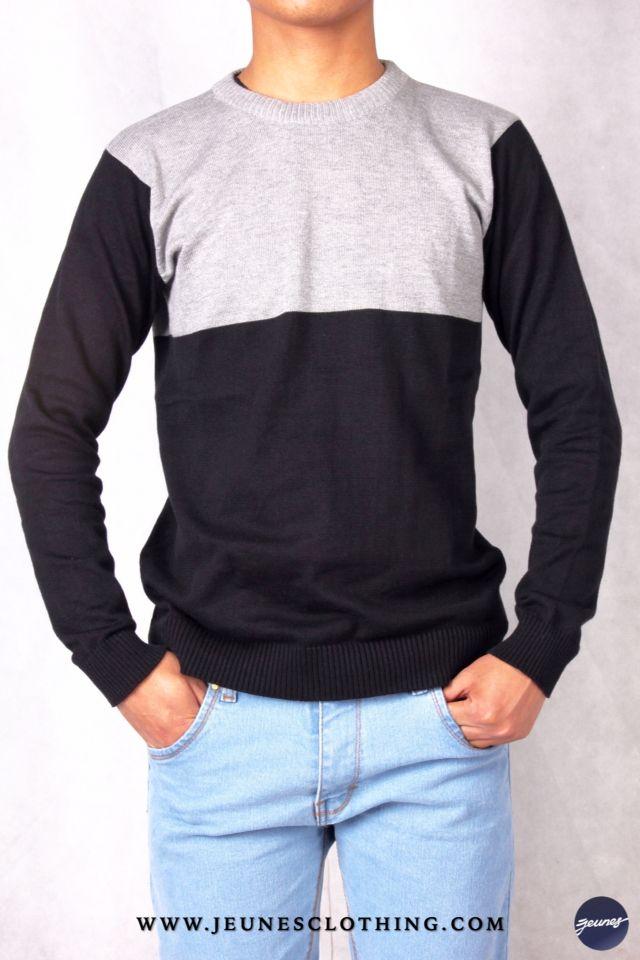 MENS!  Article: Two-Tone Sweatshirt Size: All Size Price: 200,000 idr  WWW.JEUNESCLOTHING.COM