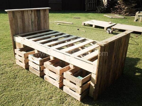 Best 25 kids pallet bed ideas on pinterest pallet beds for Pallet bed frame instructions
