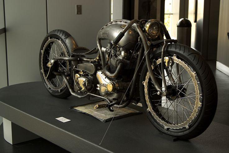 手工定制的复古摩托,永远都是那么风骚……