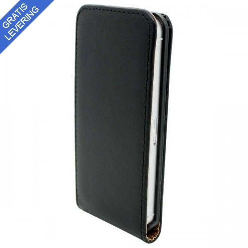 Sort iPhone 5/5S Flip Etui