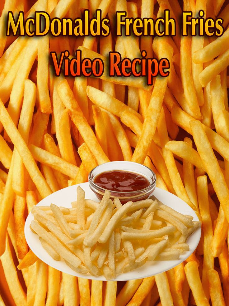 What's the Secret Behind McDonalds French Fries? When you're making the fries in your own home, you only really need six ingredients... #recipe #Fries