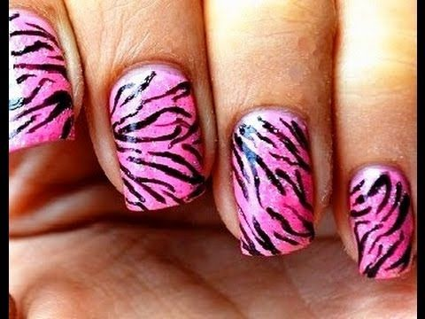 Best 25 tiger nail art ideas on pinterest tiger nails kid pink tiger nail art designs easy youtube do it yourself nails step by step how to prinsesfo Images