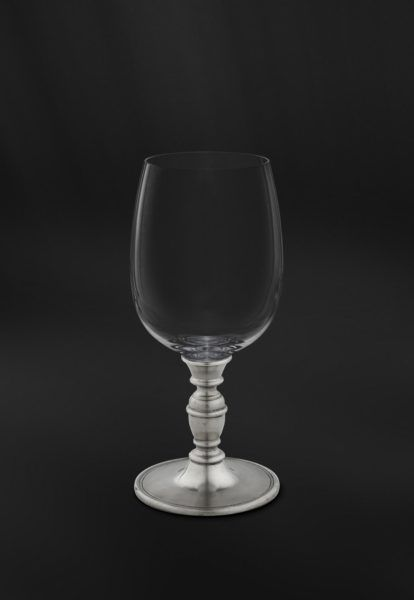 Crystal & Pewter Wine Glass - Height: 17 cm (6,7″) - Food Safe Product - #pewter #crystal #wine #glass #peltro #cristallo #calice #vino #zinn #kristallglas #weinkelch #étain #etain #cristal #verre #vin #peltre #tinn #олово #оловянный #glassware #drinkware #barware #accessories #decor #design #bottega #peltro #GT #italian #handmade #made #italy #artisans #craftsmanship #craftsman #primitive