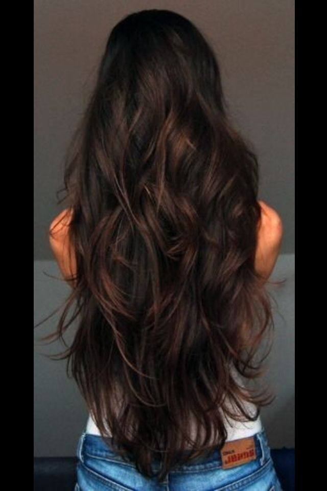 Long Dark Hair Style Shiny Healthy Hair Romance Curls