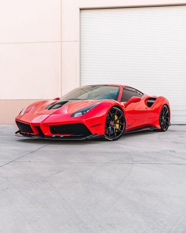 2016 Ferrari 488 Gtb Fitted With The Misha Design Carbon Fiber Body Kit In 2021 Ferrari Ferrari 488 Celebrity Cars