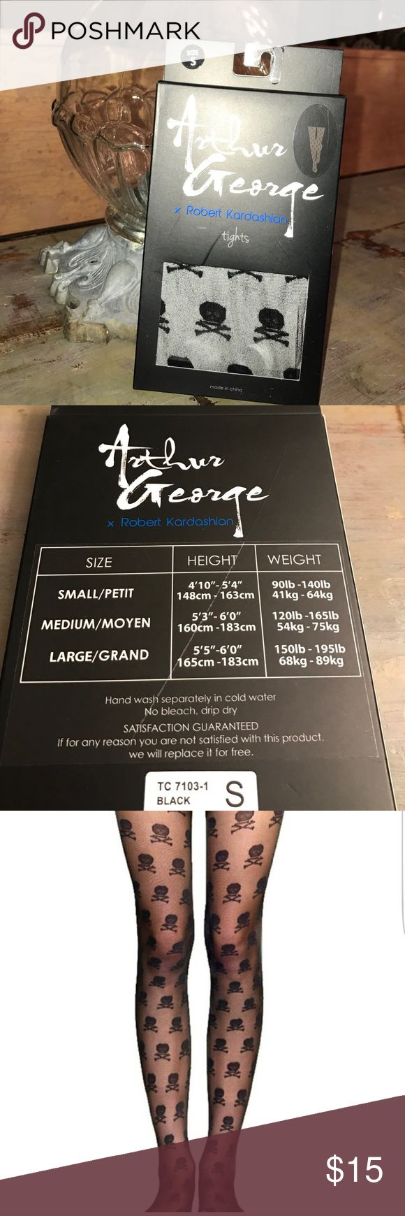 Arthur George tights by Rob Kardashian Skull tights by Arthur George Arthur George Accessories Hosiery & Socks