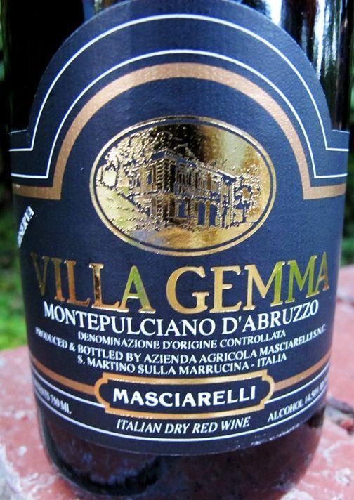 1999 Masciarelli Villa Gemma Montepulciano D'Abruzzo in