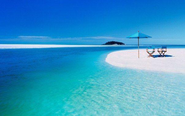 Пляж Whiteheaven beach - знаменитый пляж на острове Святой ...
