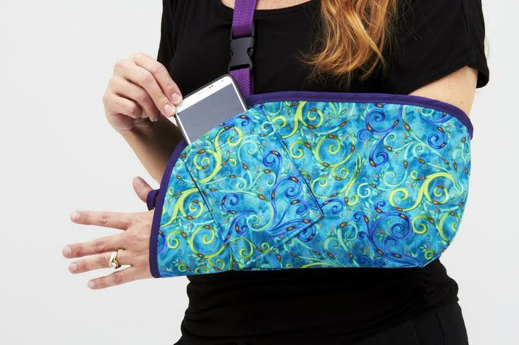 "If you have to wear an arm sling, go ""Whimsical"" with this beautiful arm sling, functional too with an optional cell phone pocket! #orthopedic #armsling #arminjury"
