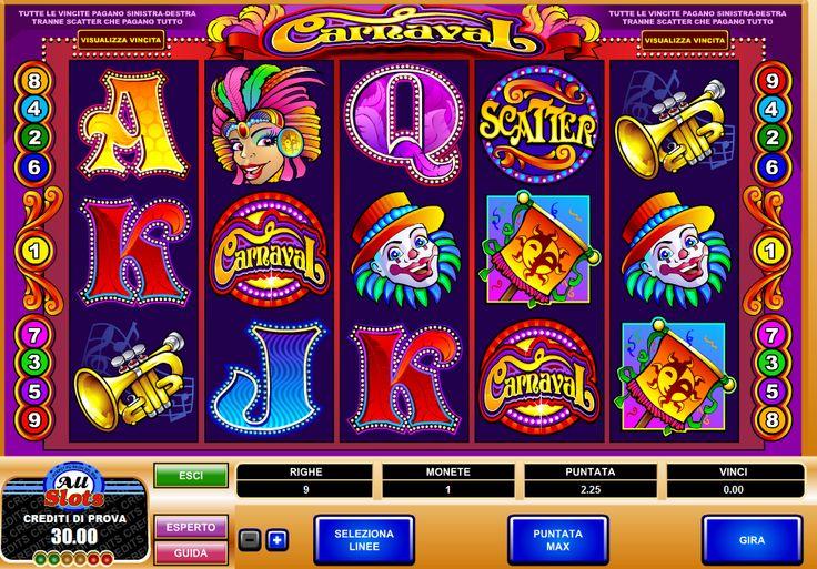 C'è sempre aria di festa a All slot casino: la slot online #carnaval ti terrà compagnia con i suoi allegri simboli! http://www.allslotscasino.it/slot-online/carnaval.html