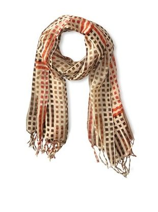 59% OFF Elizabeth Gillett Women's Carson Scarf, Cream