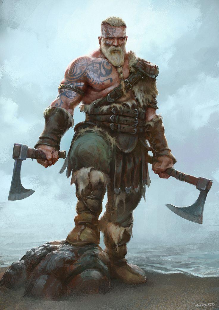Illustrator Concept Artist Viking Warrior Fantasy