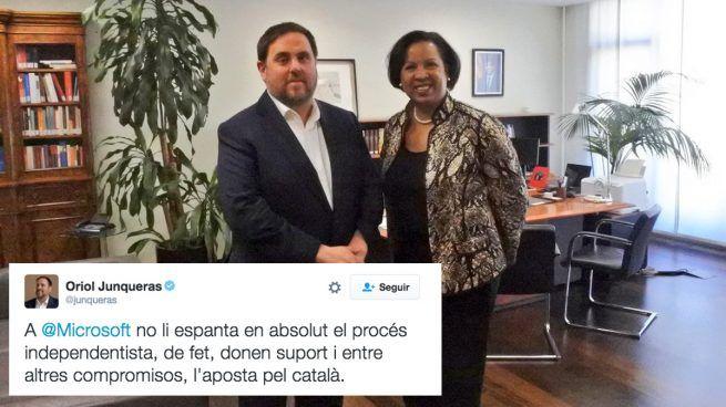 Junqueras se jacta de que Microsoft apoya la independencia de cataluña