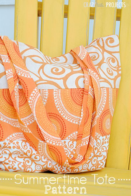 #BringInSpring with this Easy to Make Summer Tote Bag