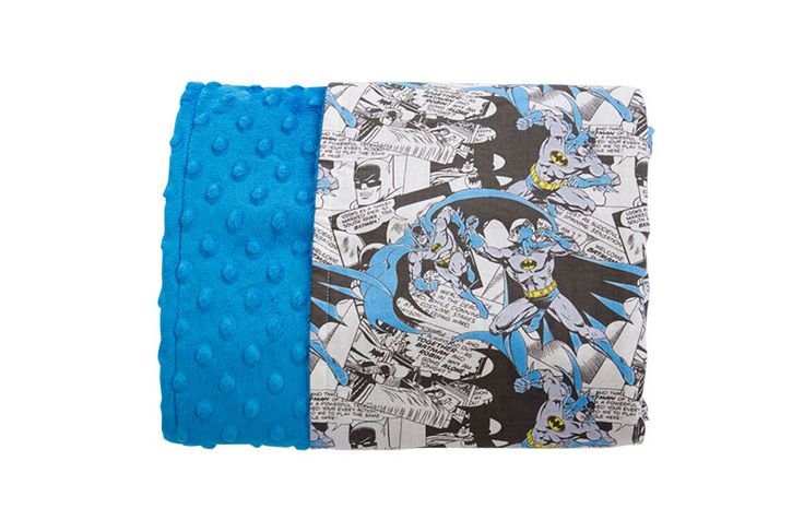 Caped Crusader Reversible Minky Blanket - Levi & Evelyn