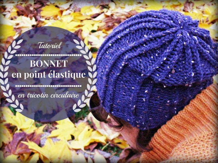 Tutoriel du bonnet en point  élastique par Valena