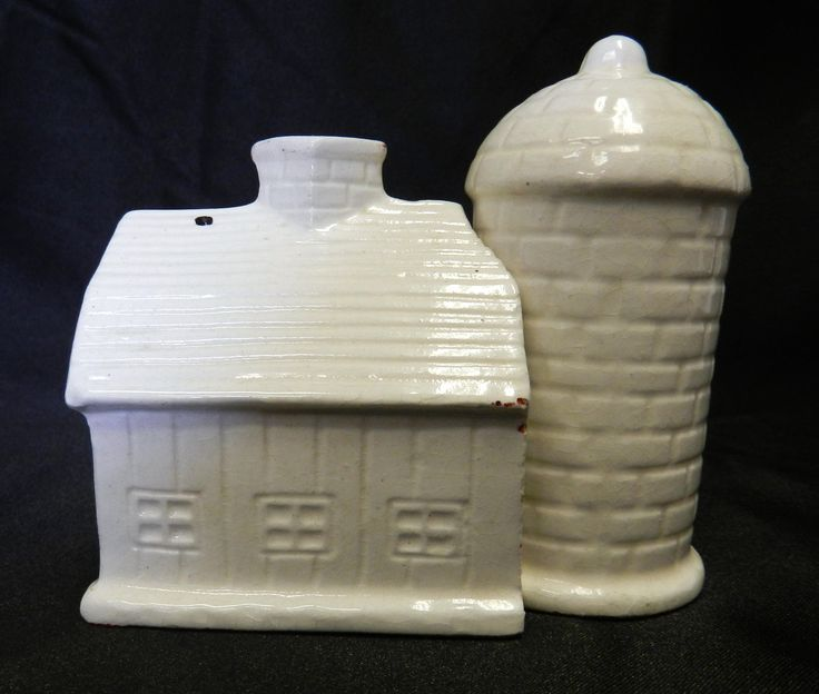 old grain silos for sale | Vintage Ceramic White Barn Grain Silo Hugger Salt Pepper Shakers Japan ...