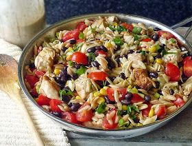 Spicy Chicken Pasta Recipe | by Life Tastes Good #Mexican #Orzo