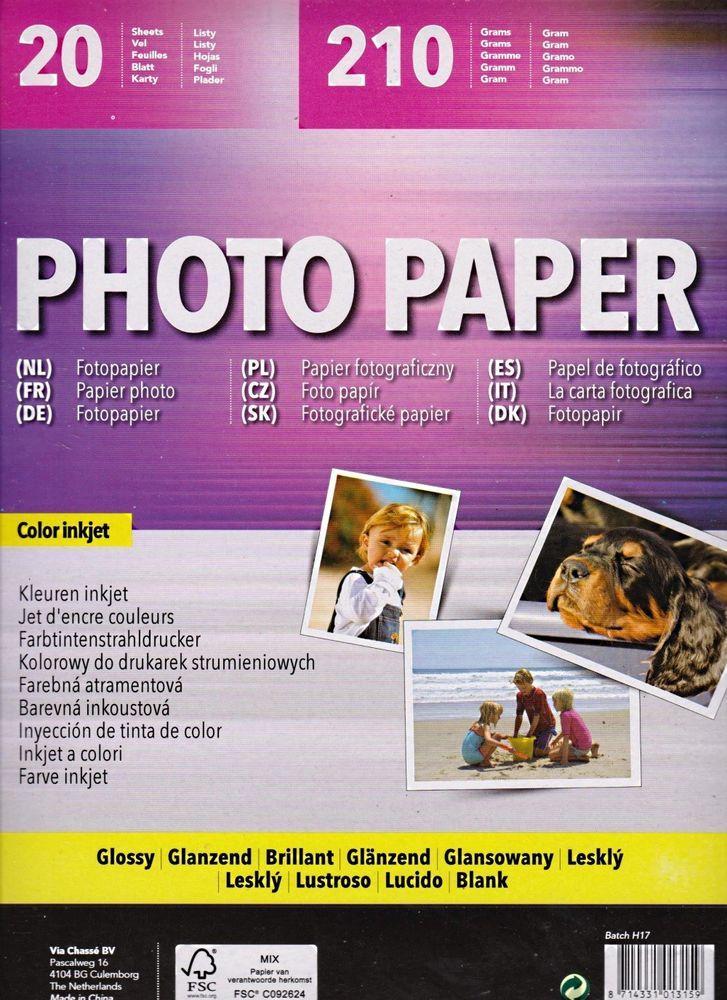 Photo Papier 20 Blatt Din A4 Color Inkjet 0207blatt
