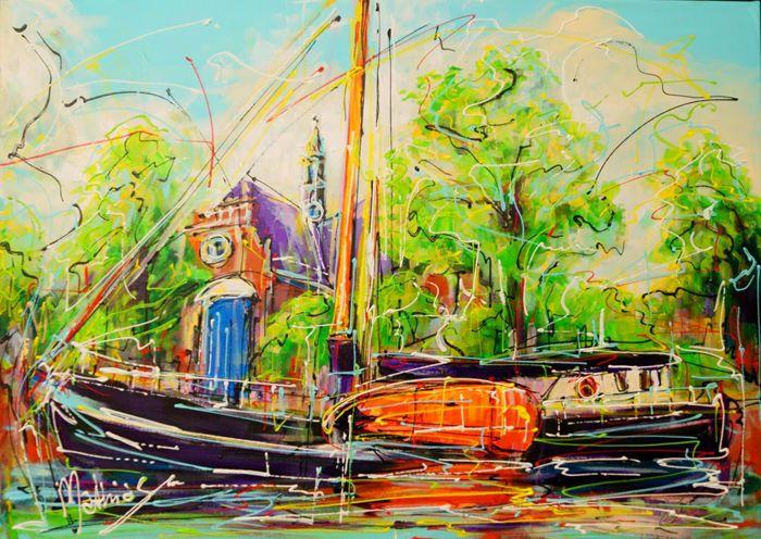 Nu in de #Catawiki veilingen: Mathias - Canal of Amsterdam, old boat