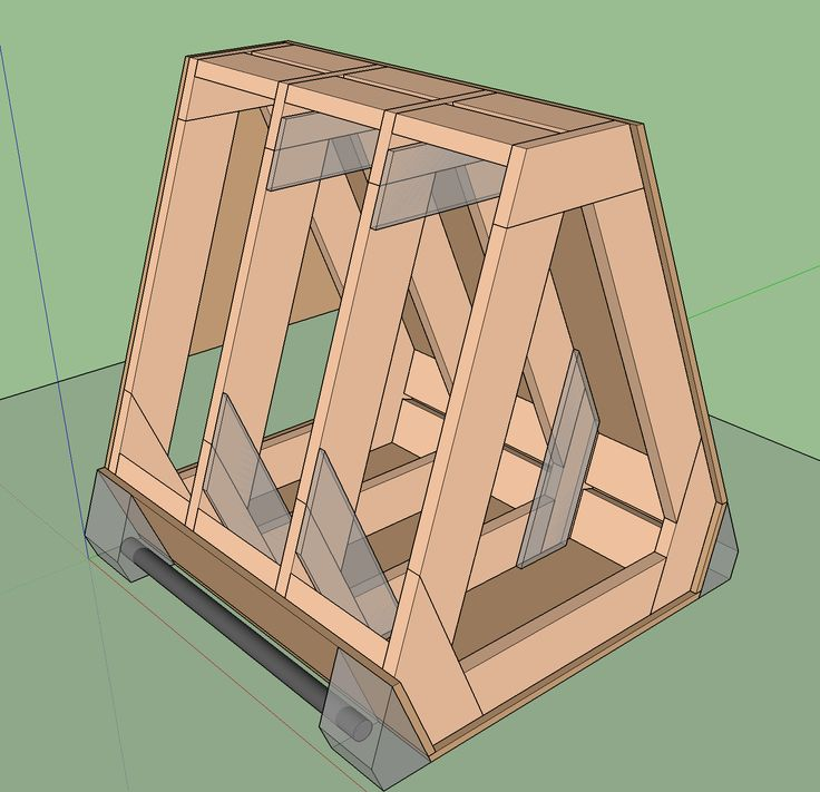 Squangled vault box with bars  This design and build was a test of some new ideas in integrating wheels and bars into our regular shapes. Details in the build video below and Sketchup model.    Also see:    *  Basic vault box plans *  Plywood for parkour equipment *  Proper plywood edge treatment Download Sketchup model