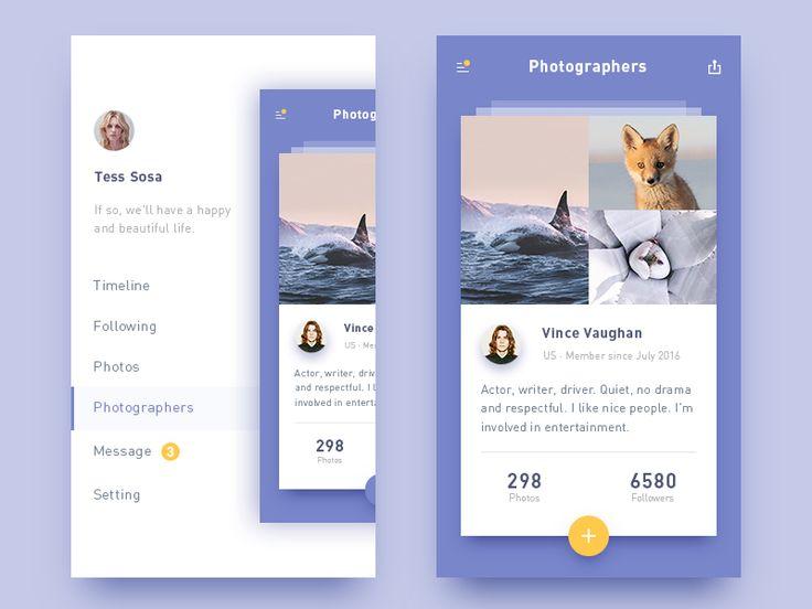 photo-sharing app - via @designhuntapp