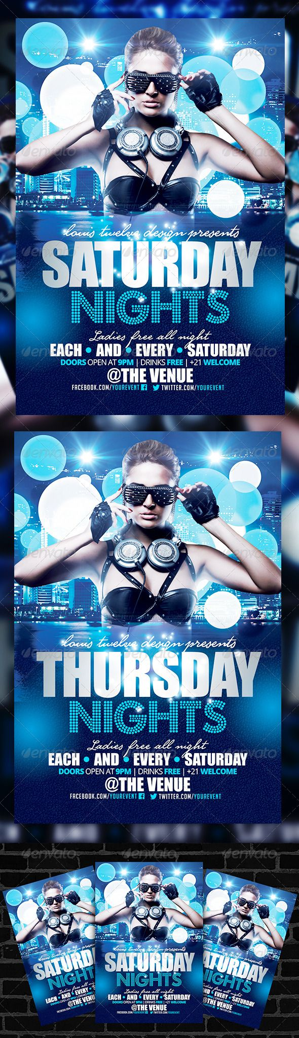 17 best images about flyers template saturday night saturday nights flyer template