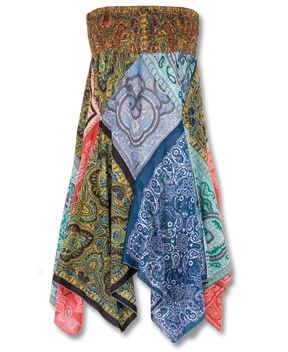 bandana dress - i could make this so easily, i feel like....... and i adore it.