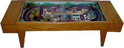 17 best images about monorail coffee table on pinterest models miniature and model train Train table coffee table
