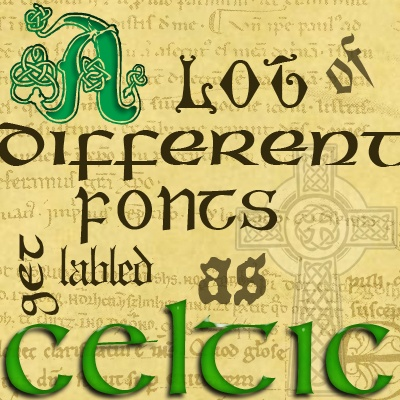 family in gaelic irish writing alphabet