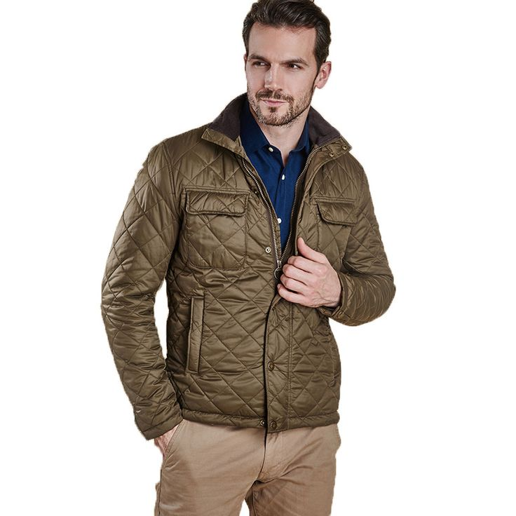 Laggan Quilted Jacket in Olive by Barbour