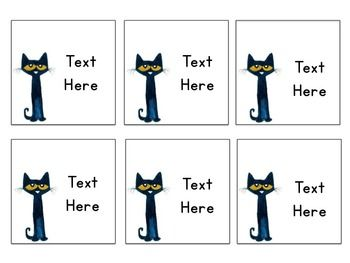 Pete the Cat Cubby/Book Bin Labels... THESE FIT THE NEW TARGET PLASTIC SLEEVES FROM THE DOLLAR SPOT!!!!!