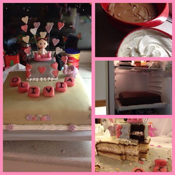 Dåbs kage til Olivia