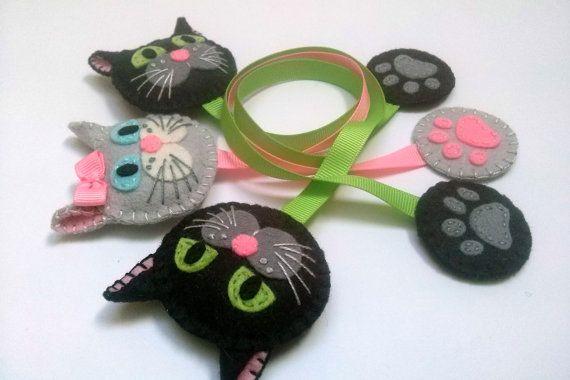 Marcapáginas gato marcador de gato negro marcador de por DusiCrafts
