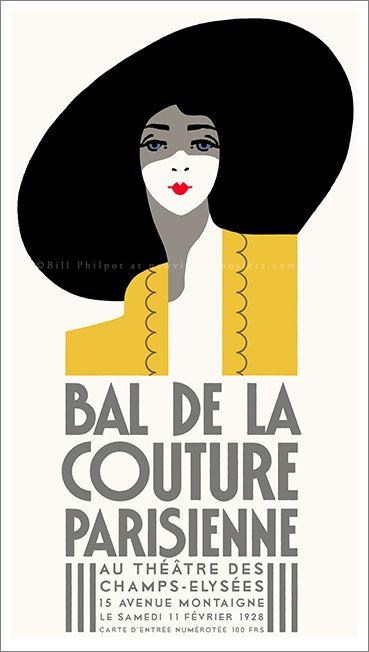 Art Deco Bal De La Couture poster by Bill Philpot at newvintageposters.com