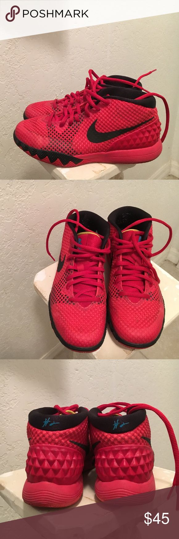 Kyrie Irving's boys sneakers Like New Kyrie's boys size 3 so fits a woman's size 6. Only worn twice! Perfect condition. Nike Shoes Sneakers