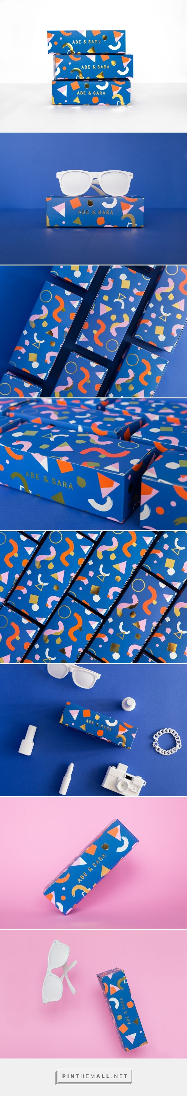 Abe & Sara Sunglass packaging design by Faber & Lo (Australia) - http://www.packagingoftheworld.com/2016/07/abe-sara-sunglass-box.html