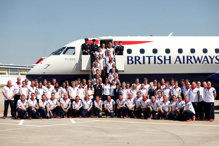 British Airways flies Team GB Swimming to the London Olympic Games