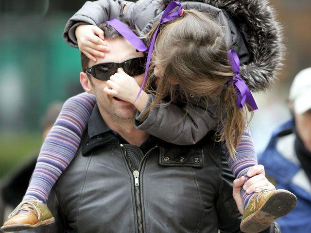 Hugh Jackman con la figlia